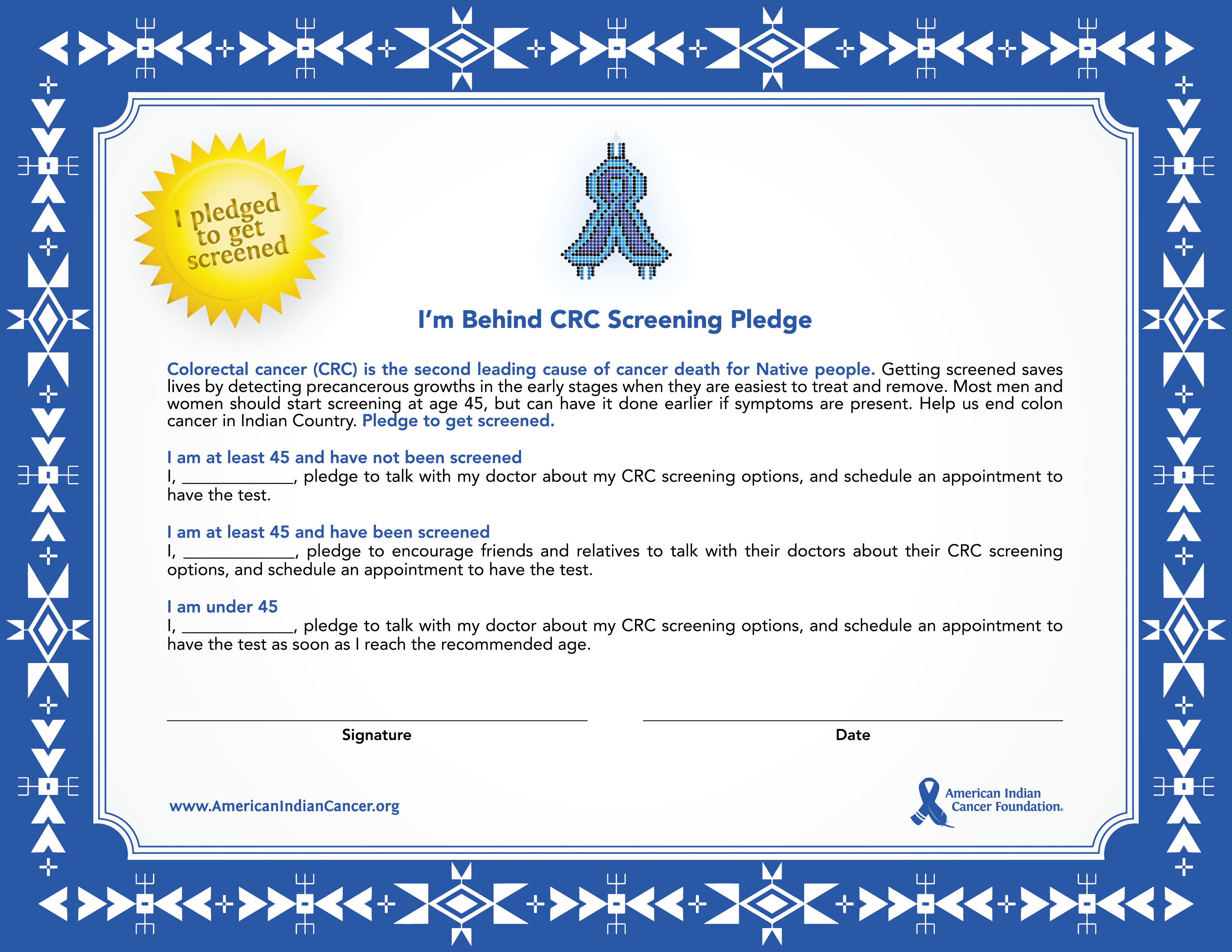 CRC Screening Pledge 2020